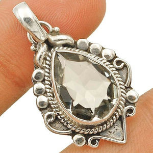 Jewelry - Natural White Topaz set in Sterling Silver 6CT